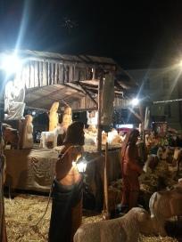 Presépio de madeira. Tem tantos, mas TANTOS bichos, que acho que erraram o evento Bíblico e colocaram a Arca de Noé. (prometo uma foto melhor)